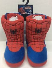 Marvel Comics Ultimate Spider-Man Boy's Graphic 3D Soft Slipper Boots size 7/8