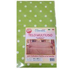 Mobilier de tissu vert pois blanc 270x280 couvre tout granfoulard Housse Coton