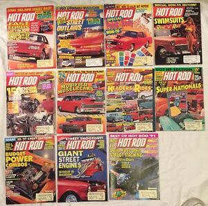 Hot Rod Magazines - 1991 (11 Magazine Issues) Swimsuit - Modified MuscleCars