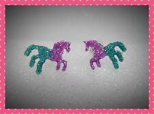 GLITTER Unicorno/Cavallo Orecchini a lobo, Adorabili, Piercing, idea regalo, unisex, tutte le età