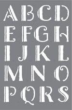 """DECOART URBAN inchiostro Stencil 6""""x9"""" SHADOW ALFABETO font LETTERE Craft Home Decor"""