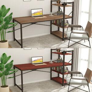 Corner Computer Desk Modern PC Laptop Study Table Gaming Home Office w/ Shelves