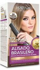 Kativa Brazilian Keratin Argan Oil Treatment Hair Straightening KIT BEST BLOND