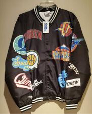 DreamQrew NBA x Chalkline Bomber Jacket Qias Omar Merch Men's Large Vtg Logo