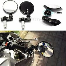 """Motorcycle 3"""" Fold 7/8"""" Handle Bar End Convex Mirrors For HONDA GROM 125 MSX125"""