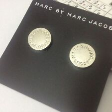 Hot! New fahsion Marc By Marc Jacobs Silver Disc Earrings