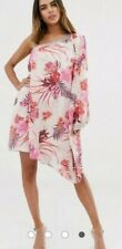 LIPSY TIGER LILLY PRINT ONE SHOULDER DRESS  HAND EMBELLISHED UK 14 BNWT RRP £80