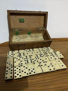 Set of Antique Dominos In Box