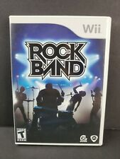 Rock Band (Nintendo Wii, 2008) Game Disc with Case TESTED