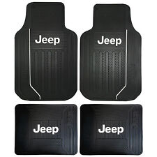 Jeep ELITE FRONT & REAR RUBBER FLOOR MATS FOR TRUCKS SUVS