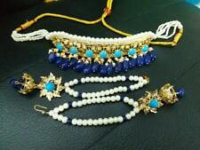 Indian/Pakistani Hyderabadi Jewelry Choker Jhumki Earrings Women Wedding Bridal
