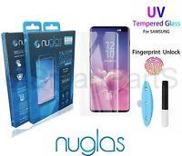 NUGLAS FOR SAMSUNG GALAXY S10 - UV LIGHT Premium Tempered Glass Screen Protector