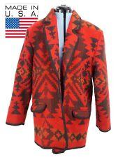 Vtg Womens Woolrich Wool Southwestern Saddle Blanket Coat Sz Medium USA
