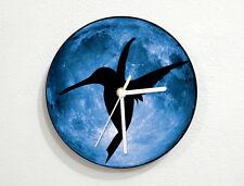 Humming Bird - Blue Moon - Wall Clock