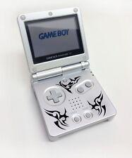 Nintendo Game Boy Advance GBA SP Custom Silver Tribal System AGS 001 MINT NEW