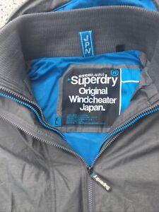 SUPERDRY - Original Windcheater - Grey - Zip Up - Hooded - Jacket - XL - UK16