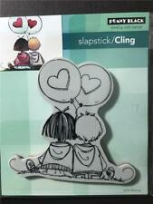 New Cling Penny Black RUBBER STAMP MO MANNING VALENTINES KIDS IN LOVE free us sh