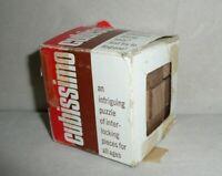 Vintage 1971 Interlocking Puzzle Cubissimo Block Puzzle Cube Puzzles
