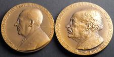 "1944/1948, Czechoslovakia. Bronze ""Czech Academy Of Sciences"" Medals. 2pcs!"