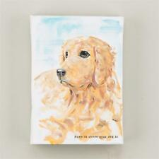 "NEW GLORY HAUS WRAPPED CANVAS PRINT - DOG ""LOVE IS WHERE YOUR DOG IS""  5"" x 7"""