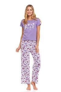 128P Womens Pants Set Sleepwear Pajamas Woman Short Sleeve Sleep Nightshirt