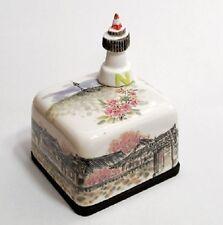 N SEOUL TOWER Korea Orgel Music Box Paperweight Ceramic Hand Craft, Figure