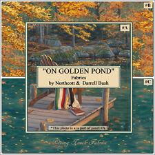 "NORTHCOTT DARRELL BUSH  ""ON GOLDEN POND"" WATER LEAVES DIGITAL PRINTED FABRICS"