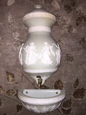 RARE ANTIQUE 1800's VICTORIAN GREEK CAMEO PLANTER / PITCHER VASE / Wedgwood