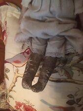 Alte Puppe Um 1880 Porzellan Korpus Leder