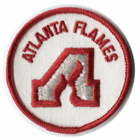 "1970'S ATLANTA FLAMES NHL HOCKEY VINTAGE 3"" ROUND DEFUNCT TEAM PATCH"