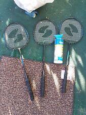 3 Sportcraft Badminton Rackets w/ Shuttcle Cocks