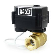 """BACOENG 1/2"""" Inch FNPT CR02 12VDC Brass Electric Motorized Ball Water/Air Valve"""