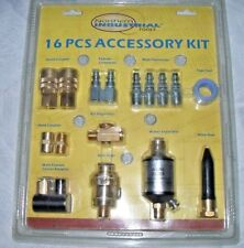 New Listing16 Pc Air Tool Accessory Kit, Air Regulator, Water Separator, Swivel & Much More