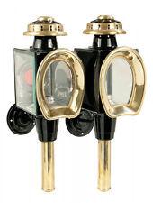 Messing Kutschlampe Kutschenlampe Kutschlampen Lampe Kutsche schwarz gold Kerzen
