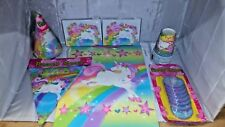 Unicorn Party in a box for 8. Hats, plates,cups and much more. NOS