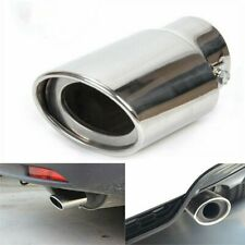 Chrome Car Stainless Steel Rear Exhaust Pipe Tail Muffler Tip Round Accessories