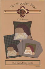 Everything Santa Pillow ~ Quilt Quilting Pattern ~ by The Wooden Bear TWB023