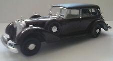 RIO 1:43 AUTO DIE CAST CAR MERCEDES BENZ CABRIO 1937 BORDEAUX E NERO  ART 22