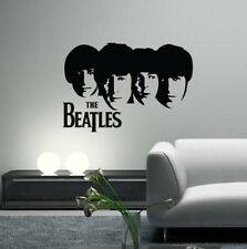 The Beatles Wall Decals Vintage Vinyl Band Silhouette Art for Home Decor