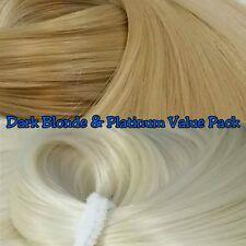 Platinum & Dark Blonde XL 4oz 2 Color Value Pak Nylon Hair Reroot Barbie MLP
