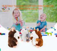 Electric Talking Plush Cartoon Hamster Kids Educational Toys Children Baby Gift