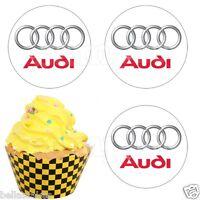 Eßbar Audi  Auto  Muffinaufleger Tortenaufleger NEU Deko Tortenbild Party