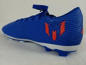 Adidas Nemeziz Messi 19.4 Soccer Cleats Size 5-6 Youth Blue White Red EG3319