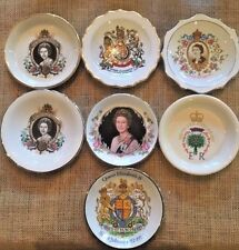 Lot Of 7 Queen Elizabeth II Silver Jubilee Trinket Dish Woods & Sons Lord Nelson