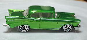 Hot Wheels Classics '57 Chevy Bel Air Green 1/64 Diecast Loose Chevrolet