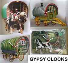 TRADITIONAL ROMANY GYPSY CARAVAN WALL CLOCK.NEW & BOXED.4 STYLES BOSWELL ETC