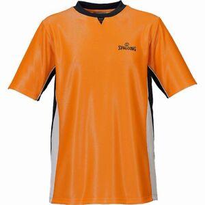 Spalding Basketball Schiedsrichter Shirt Pro Herren Trikot orange schwarz