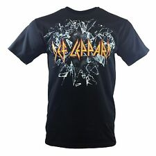 Def Leppard Mens Tee T Shirt Vintage Rock Band Music Tour Black s Sleeve New