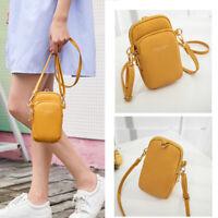 Cute Leather Women Crossbody Purse Phone Pouch Wallet Shoulder Bag+1 free wallet