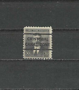 CANAL ZONE , US,1928/40, WILLIAMSON , CRISTOBAL PRECANCEL 30c STAMP , PERF, MNG